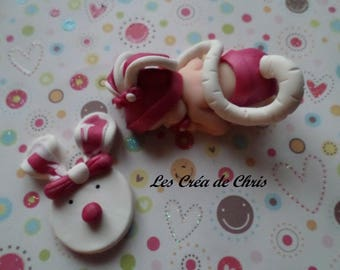 baby girl fimo dressed mouse.