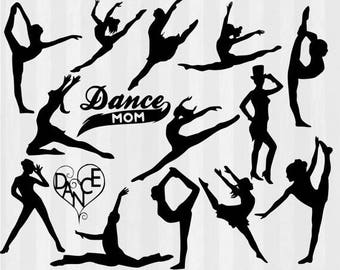 Dancers SVG File Cutting Template-Clip Art for Commercial and Personal Use-SVG file for Cricut,SCAL,Cameo,decal,vinyl, vector, dance mom,dxf