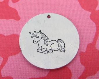 Unicorn Metal Design Stamp - 10x14mm | Metal Stamping Unicorn Stamp | Cute Kawaii Unicorn Stamp | Metal Design Stamp