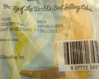 Safari Babies New Baby Cake Topper by DecoPac, Unopened