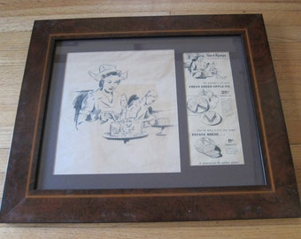 Original Vand de Kamps Pencil Drawing by Sam Hyde Harris, Pencil Art with authentication