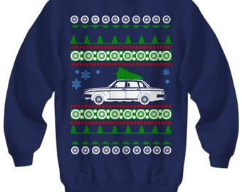 Volvo 240 Ugly Christmas Sweater Sweatshirt cars holidays swedish gift for volvo owner