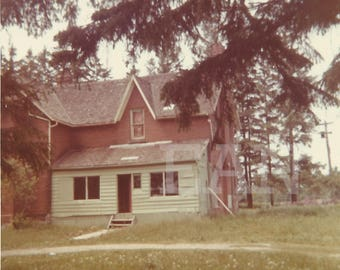House, 1970s, Upstate New York, Instant Download Digital Vintage Photograph Landscape Photography