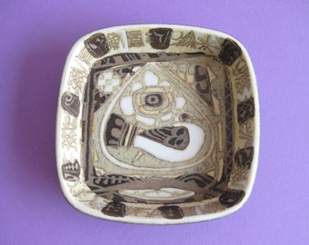 Royal Copenhagen  Baca Bowl  Nils Thorsson scandinavian vintage retro  handpainted atomic
