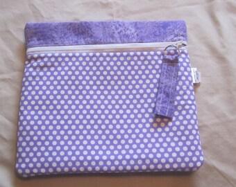 PURPLE Polka Dot PROJECT BAG