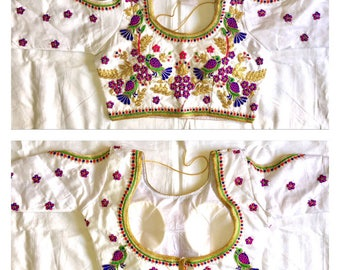 Free Shipping,Indian Rajasthani Readymade off sleeves  blouse.