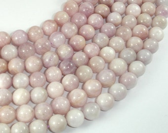 Kunzite, Round beads, Approx 9.5mm-10.5mm, 15.5 Inch, Full strand, Approx 39-42 beads, Hole 1mm (293054005)