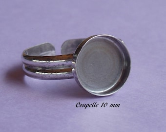 Ring in sterling silver. 925, round 10 mm tray-dish
