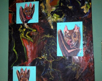 Eating Bats Painting MOVING SALE!