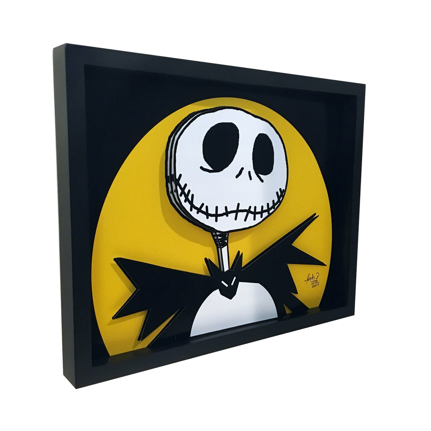 The Nightmare Before Christmas Jack Skellington 3D Art TNBC
