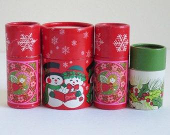 Wood Christmas Matches, Vintage Hallmark Christmas Stick Matches in Tubes, Hallmark Keepsake Candle Match Sticks, Vintage Candle Matches