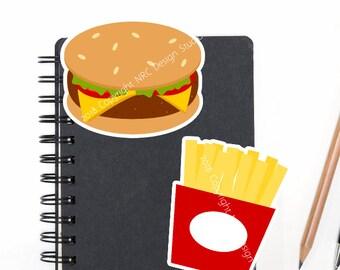 SALE Planner Die Cuts Printable, Food Die Cuts, Cheat Day Die Cuts, Scrapbook Die Cuts, Planner Accessories - Office