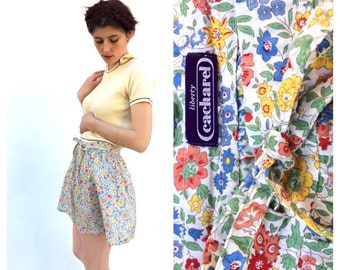 Cacharel Liberty London Multicoloured Floral Print French Vintage Skirt