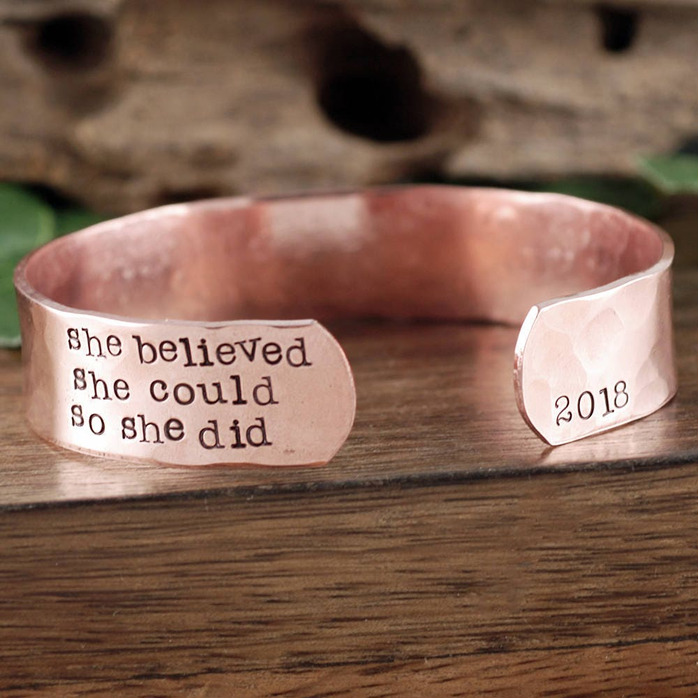 her she so could gift listing jewelry cuff il bracelet believed large fullxfull graduation for did inspirational
