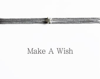 Make A Wish Star Bracelet - Bohemian Jewellery, Friendship Bracelets, Boho Style, Christmas Gift, Wishing Charm, Stocking Stuffer
