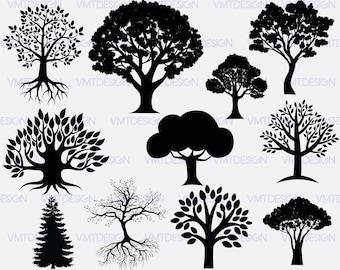 Tree svg - Tree Silhouette svg - Tree Silhouette digital clipart for Design or more, files download eps, svg, png, jpg