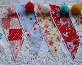 Vintage floral bunting