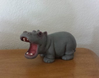 Ceramic Hippopotamus with mouth wide open(#3)