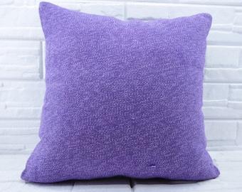 "24""x24"" purple kilim pillow decorative kilim pillow turkish kilim pillow bohemian pillow pillow cover anatolian kilim pillow No 287"