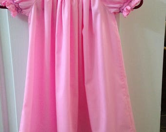 Hand Smocked Hot Pink Little Girl's Dress