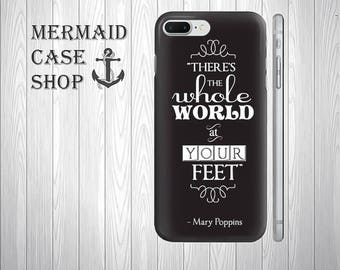 Mary Poppins iPhone case black iphone 7 8 case, samsung s6 s7 s8 case  /DC  588