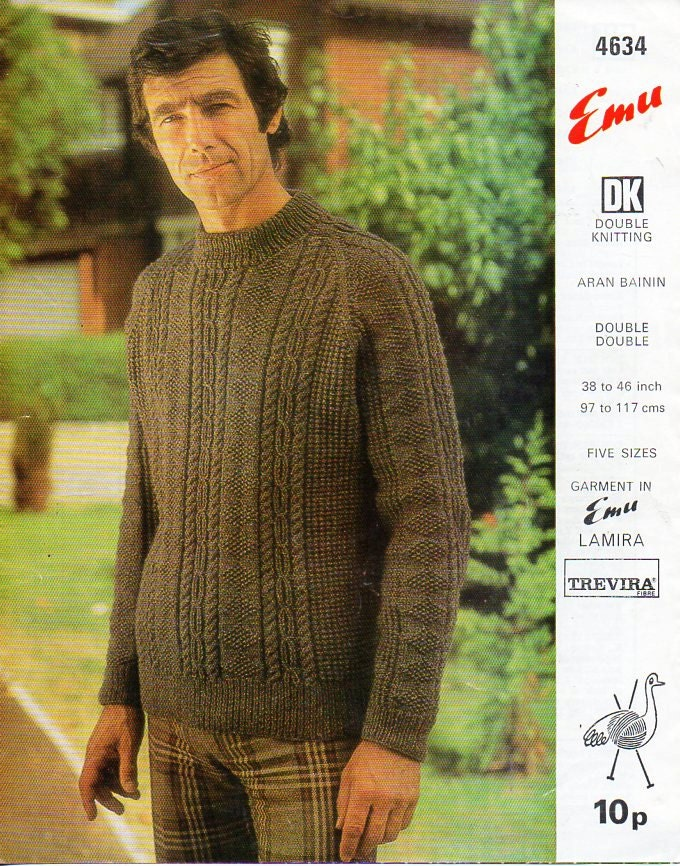 Mens Aran Sweater Knitting Pattern Pdf Download Mens Cable