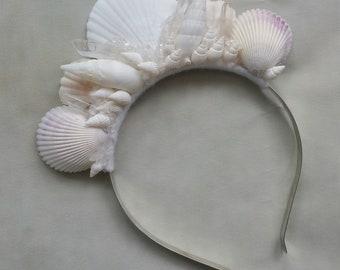 Mermaid shell crown, delicate mermaid tiara, sea crown