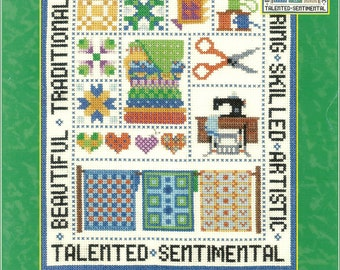 Quilt Lover Cross Stitch Sampler Chart