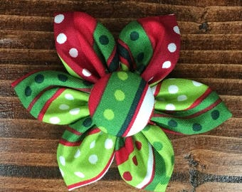 Multi Color Holiday Flower Hair Clip