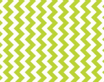 CLOSEOUT SALE Lime Small Chevron by Riley Blake 1 Yard, Manufacturer Cut