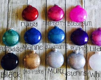 Custom Glitter Ornament // Christmas Ornament // Customized Ornaments // Christmas Ornaments // Personalized Christmas Ornament