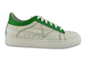 White Vegan Sneakers - Recycled Airbags - Unisex