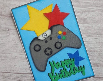 Gaming Card, Gaming Birthday Card, Controller Card, Happy Birthday, Xbox Card, Cool Birthday Card, Handmade, Unique, Gamer Card