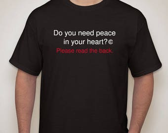 Do you need peace in your heart?