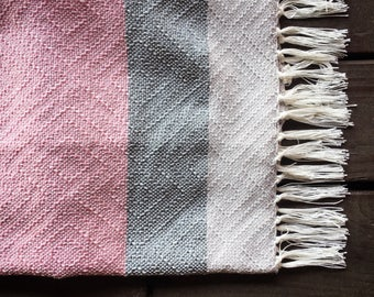 Baby Blanket - Light Pink & Gray