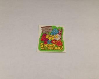 Vintage  Melo Smello Spring Sticker 80s 1980s