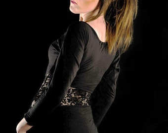 Batwing dress Charcoal dress Black lace dress Black minidress
