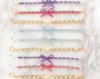 Bow Bracelet Bracelet - your choice of hardware