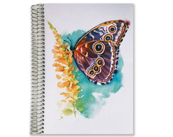 Notebook Planner   2018-2019 Planner   Aquila Watercolor   2018-2019 Personalize Calendar Notebook   Personalized Notebook   Custom Notebook