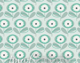Woven Fabric - Littlest Playful Petals Menthe - Half Yard +