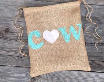 Burlap Bag, Dollar Dance Bag, Personalized Wedding Gift, Rustic Wedding, Woodland Wedding, Rustic Bag, Bridal Bag, Mint Wedding, Monogram