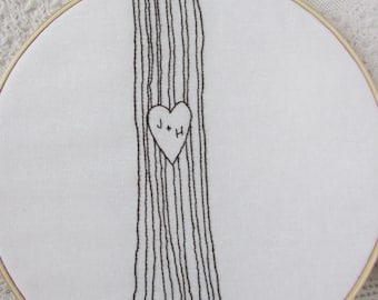 Hand Embroidery Pattern// Initials in a Tree