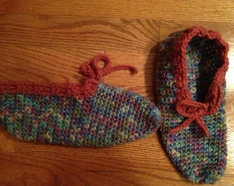 Crocheted Lady Slippers