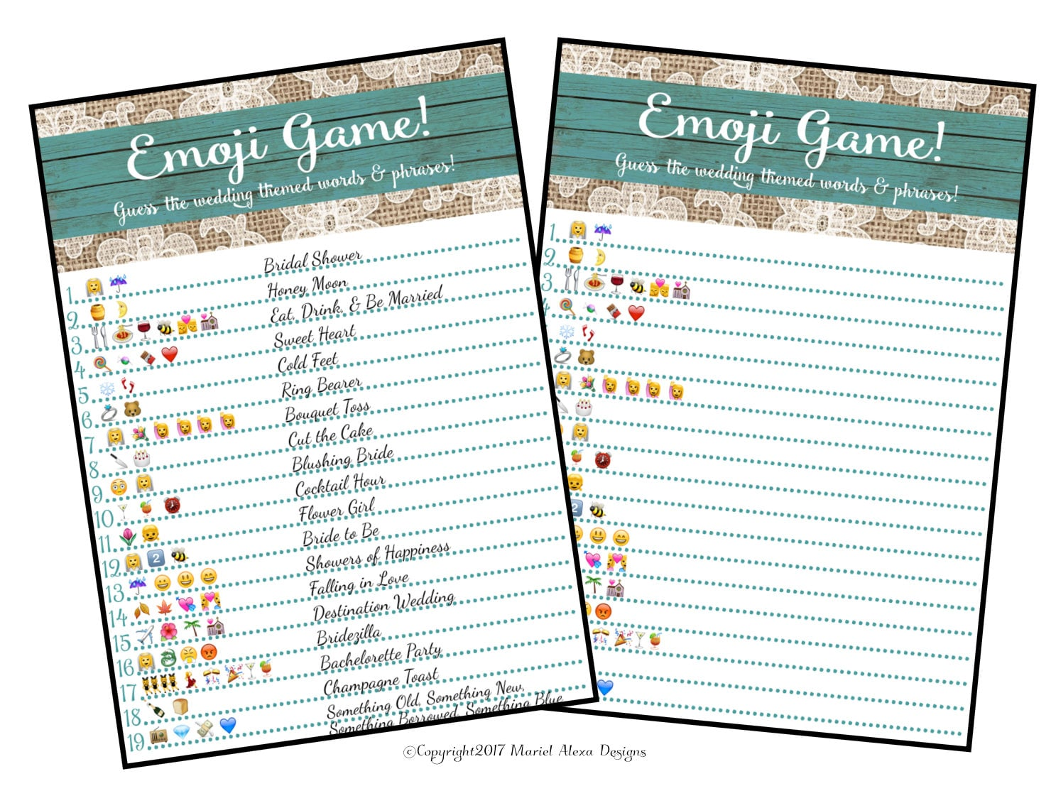 Bridal Shower Emoji Game Fun Unique on This Is A Fun Printable That Can Be Used