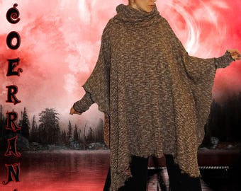 Poncho, cape 'Touch of red.'