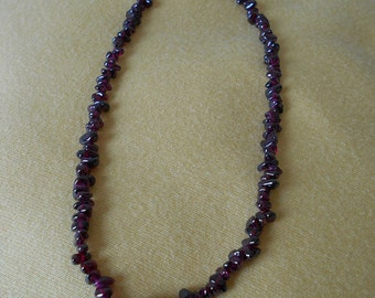 Deep purple garnet necklace -  Free shipping