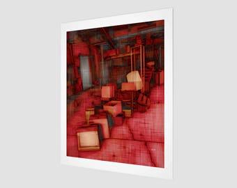 Abandoned - No.1 - Red Fine Art Print