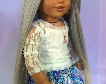 "Custom 10-11"" Doll Wig Fits Most 18"" Dolls Extra Volume ""Morning Dawn""- Heat Safe"