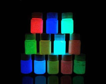 Glow in the Dark Paint - set of 12 colours in total