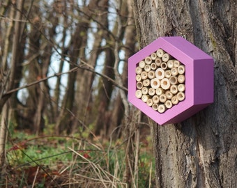 BEE HOTEL, Insect house, Mason bee home - Hotel Lavender